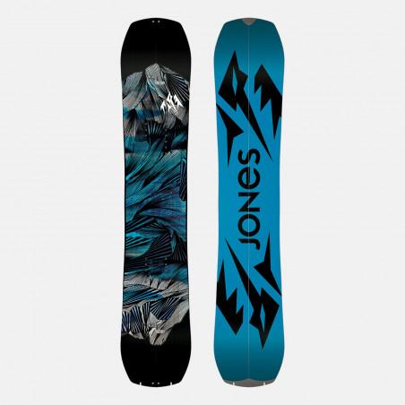 Jones Mercury Snowboard Bindings featuring SkateTech, shown in black color, quarter back view