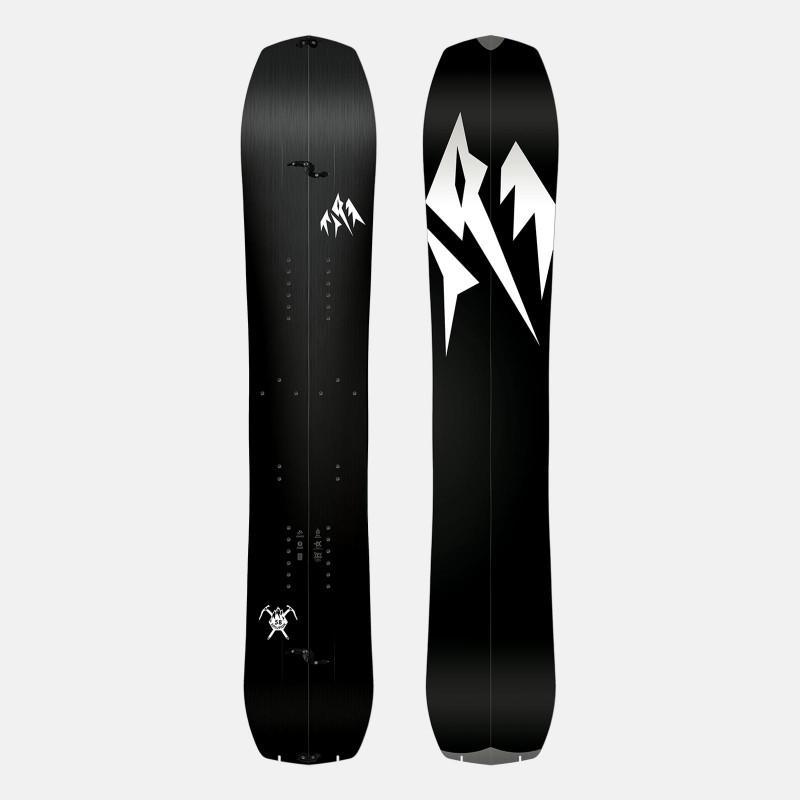 Jones Mercury Snowboard Bindings featuring SkateTech, shown in black color, back view