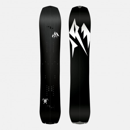 Jones Mercury Snowboard Bindings featuring SkateTech, shown in black color, back view
